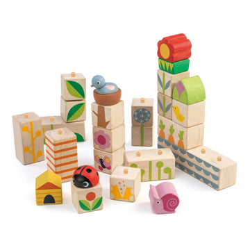 Garden Wooden Blocks - Tender Leaf Toys - Oompa Toys