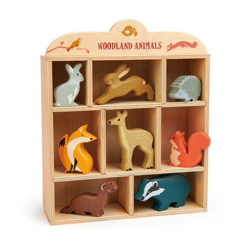 Tender Leaf Toys Woodland Animals Set - Wooden Figurines - Oompa Toys
