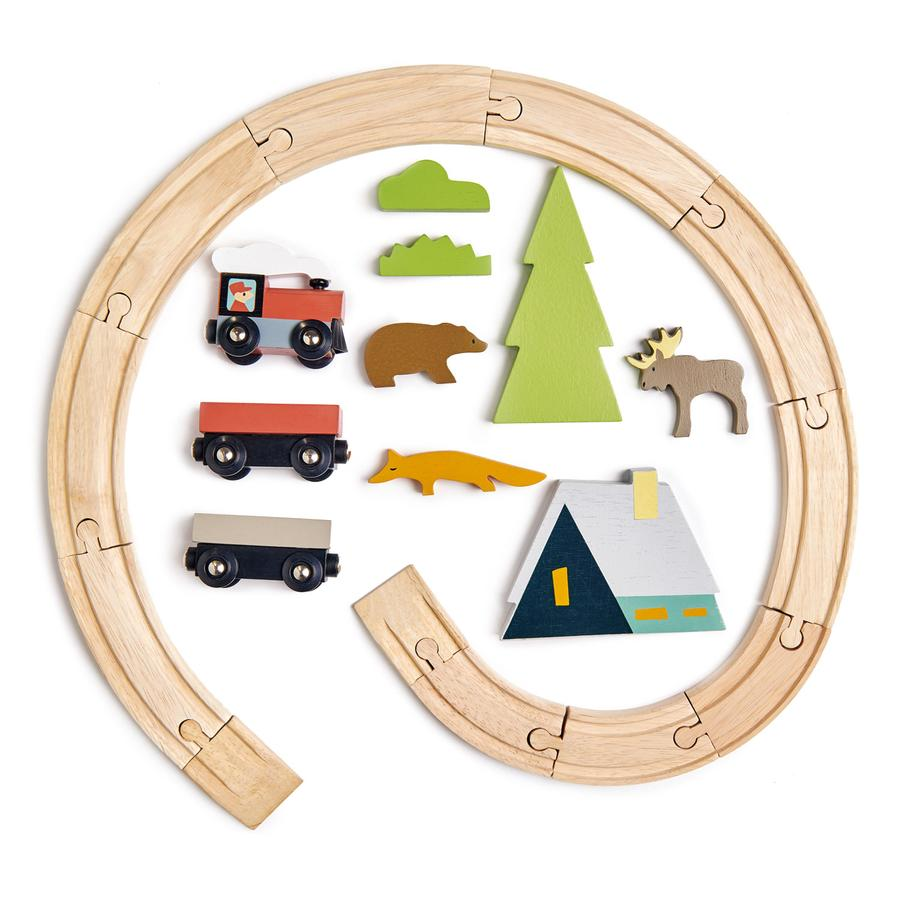 Tender Leaf Toys - Treetops Kids Wooden Train Set Pieces - Oompa Toys