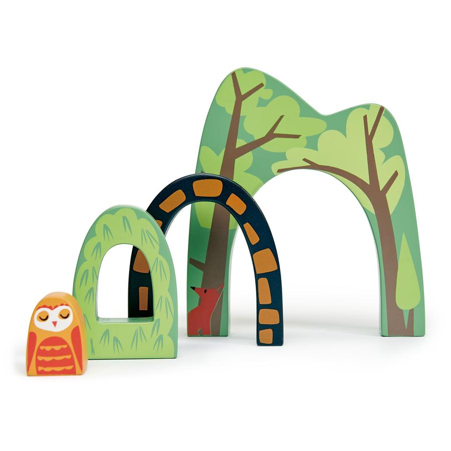 Stack of 4 Forest Tunnels - Tender Leaf Toys - Oompa Toys