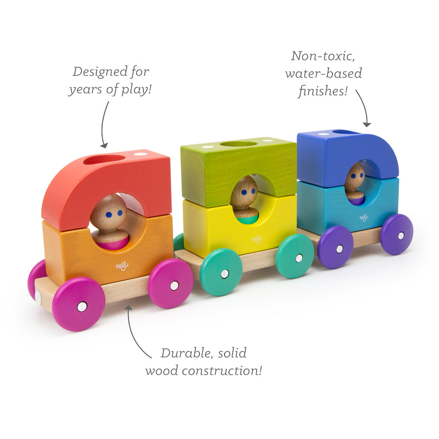 Wooden Magnetic Tram - Tegu - Oompa Toys