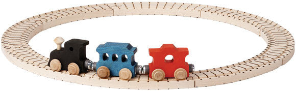 Basic Wooden Train Track Set