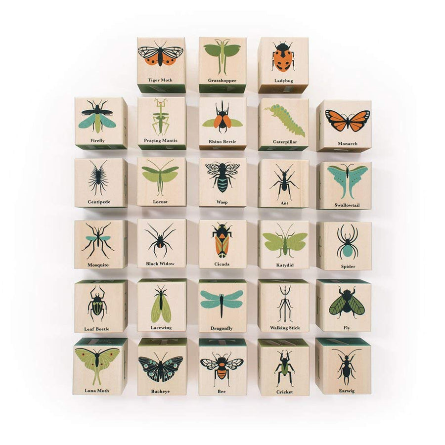 Bugs Wooden Alphabet Blocks