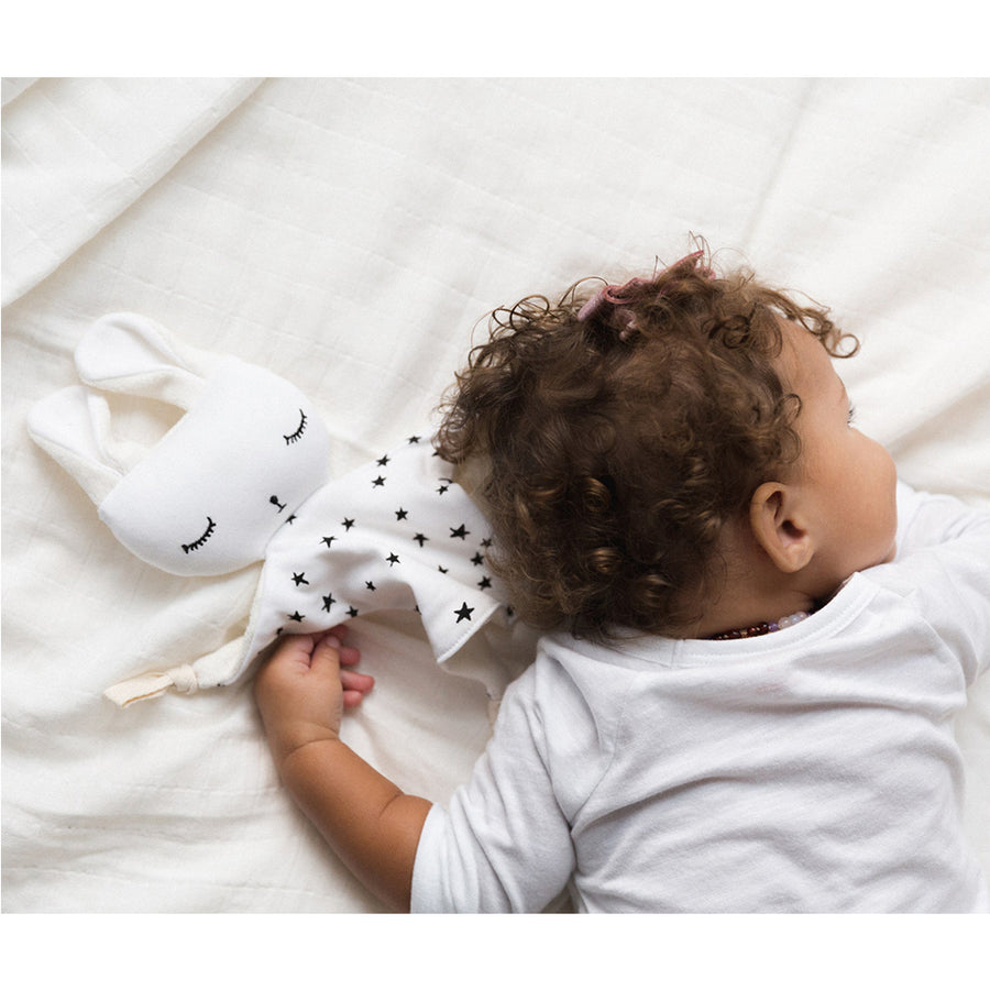 Wee Gallery - Cuddle Bunny Stars | Oompa Toys - Lifestyle Baby Sleeping