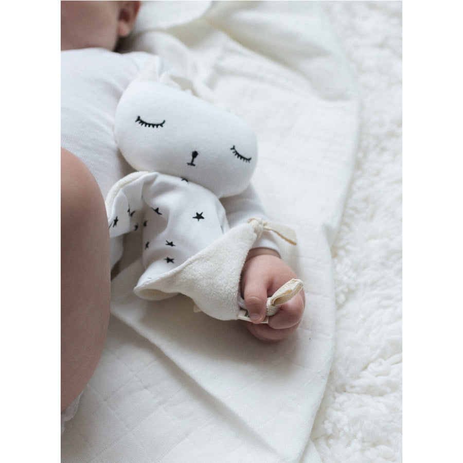 Wee Gallery - Cuddle Bunny Stars | Oompa Toys - Lifestyle Baby Closeup