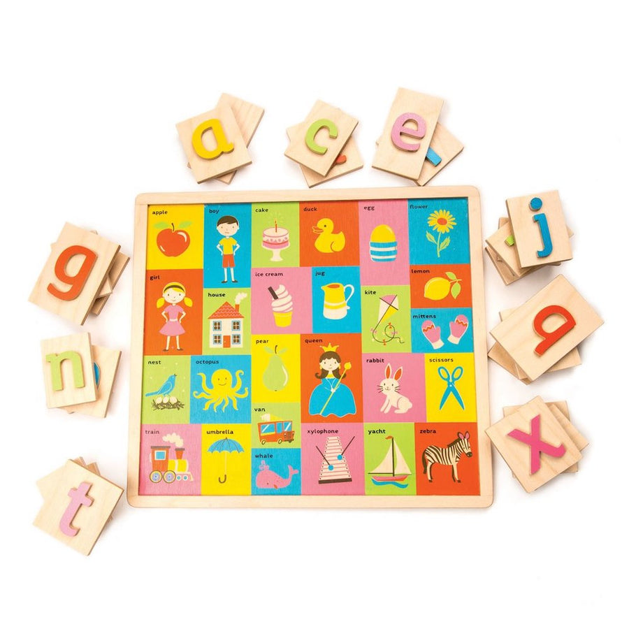 Alphabet Picture Puzzle Pieces - Tender Leaf Toys - Oompa Toys