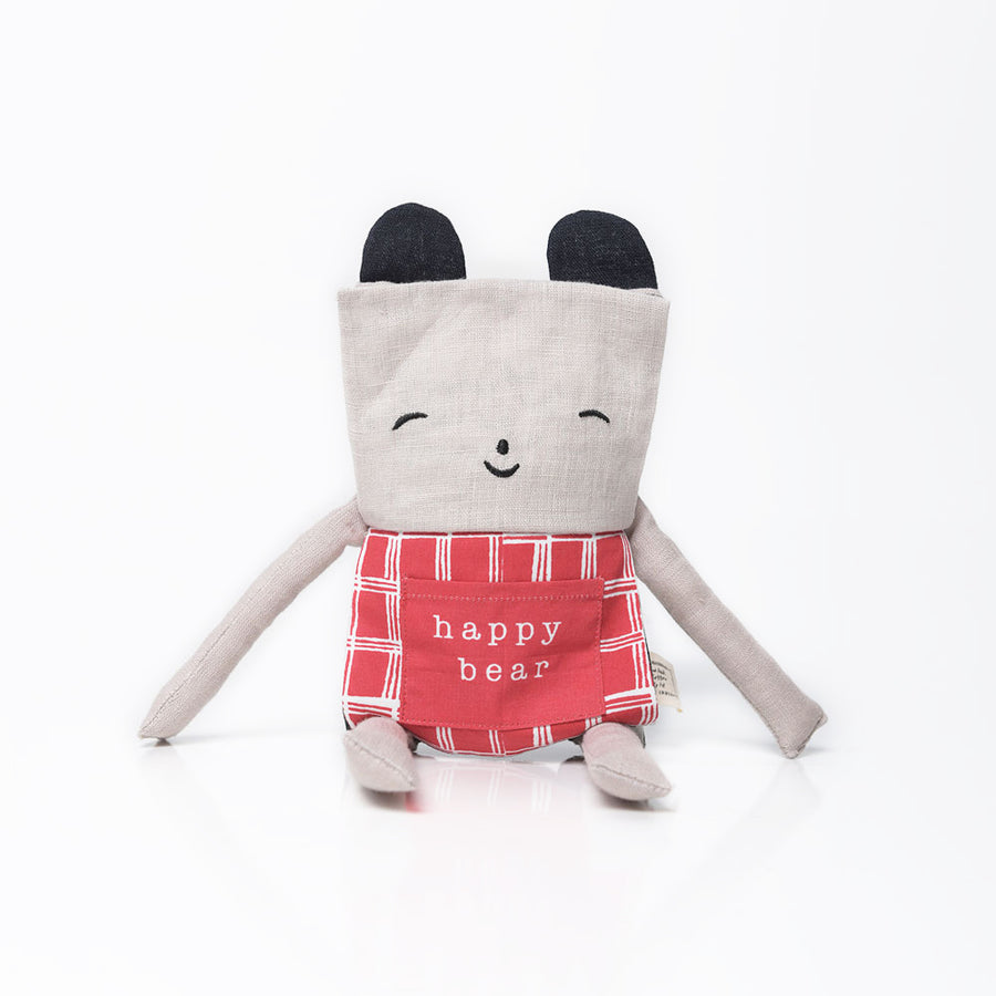 Wee Gallery Flippy Bear - Happy Bear - Organic Toys - Oompa