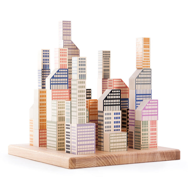 Bajo Wooden Manhattan City Blocks
