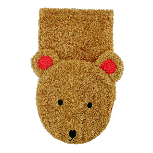 Washcloth Hand Puppet - Bear