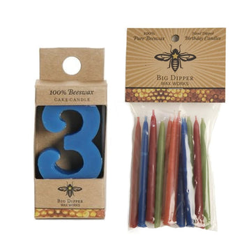 Beeswax Birthday Cake Candles - Number 3 - Oompa Toys