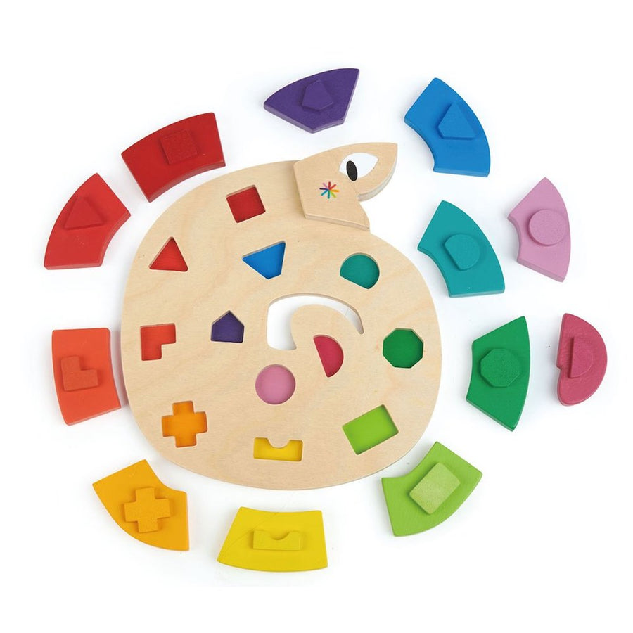 Color Me Happy Snake Puzzle Pieces - Tender Leaf Toys - Oompa Toys