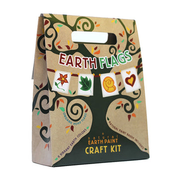 Natural Earth Paints - Earth Flags Kids Crafts Kit | Oompa Toys