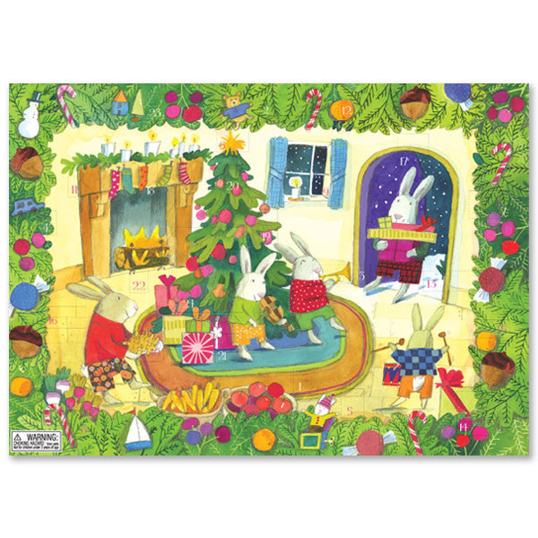 eeBoo Advent Calendar - Rabbits in the Den