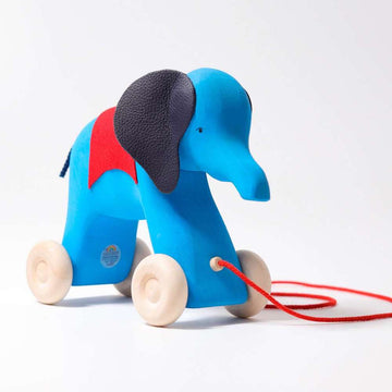 Otto Elephant Push Toy - Front View - Grimm's Spiel & Holz - Oompa Toys