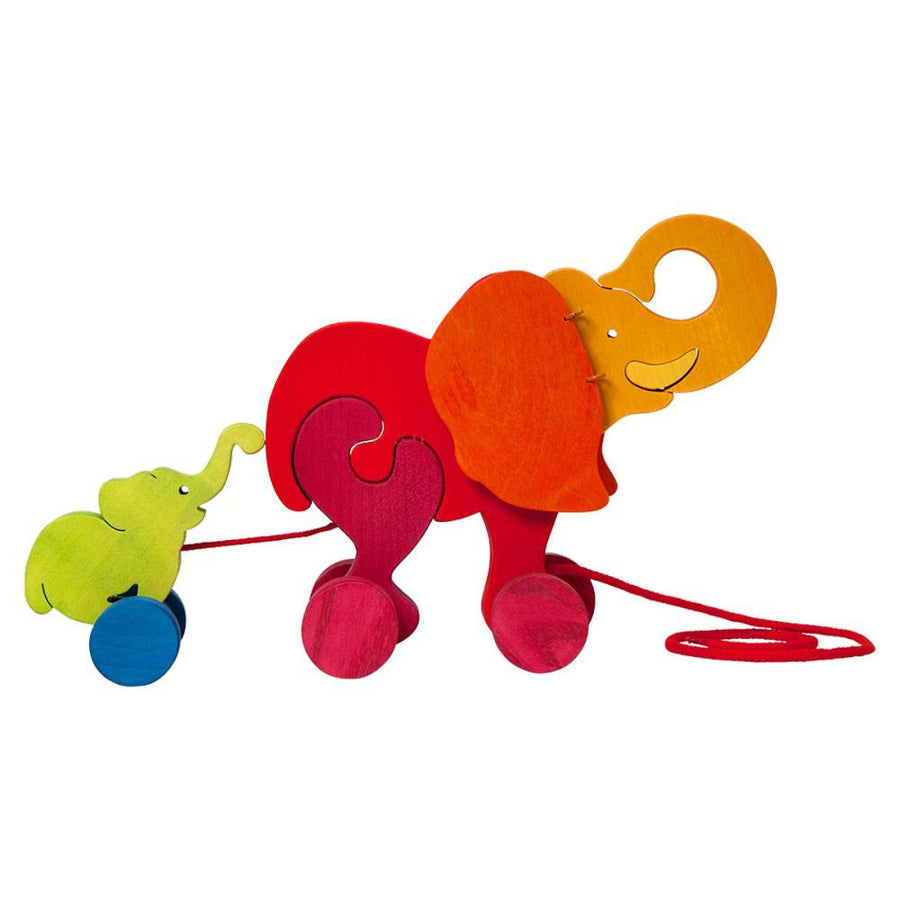 Pull-Along Wooden Elephant Toy - Oompa Toys