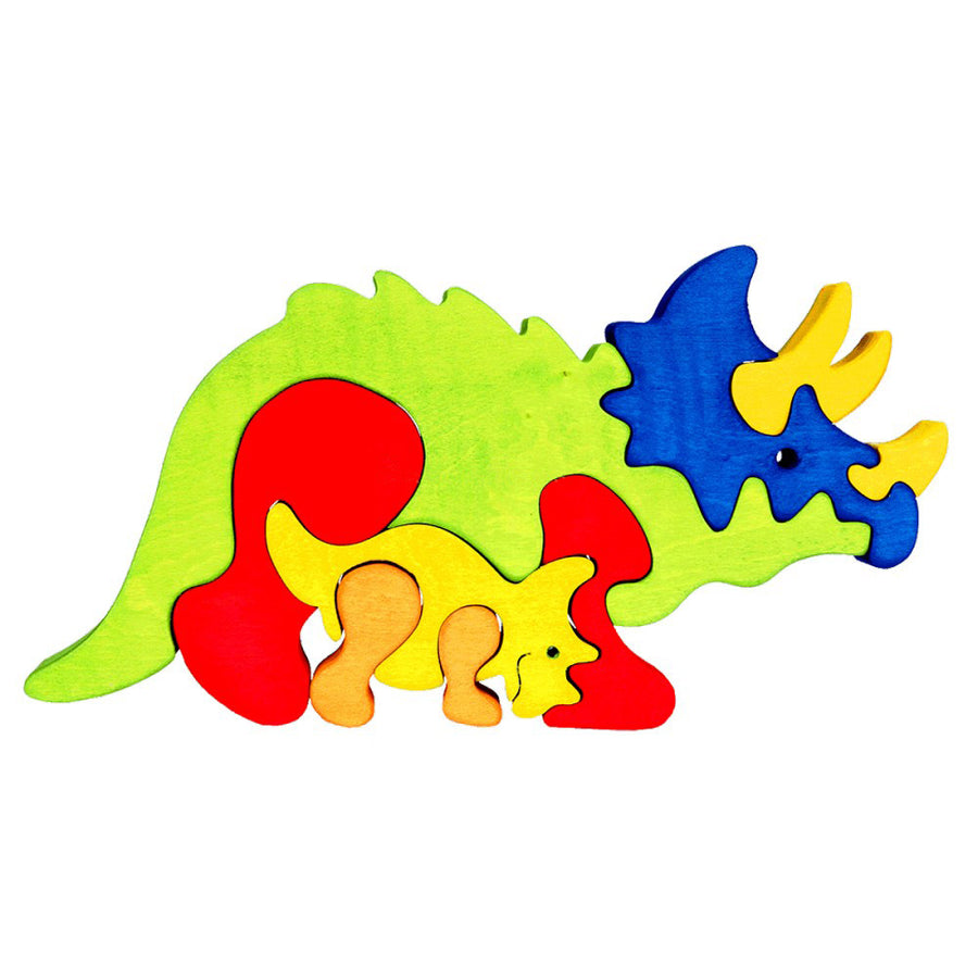 Fauna Trade - Wooden Triceratops Dinosaur Puzzle - Oompa Toys