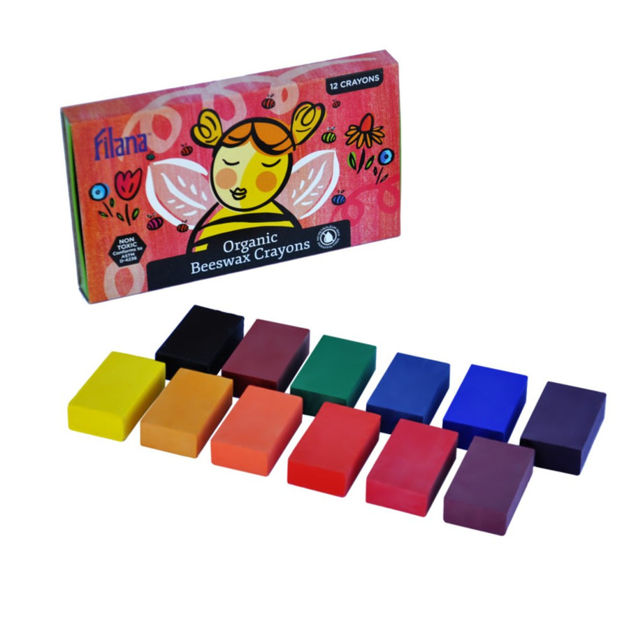 Organic Beeswax Crayons - 12 Blocks