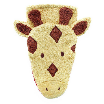furnis giraffe washcloth puppet