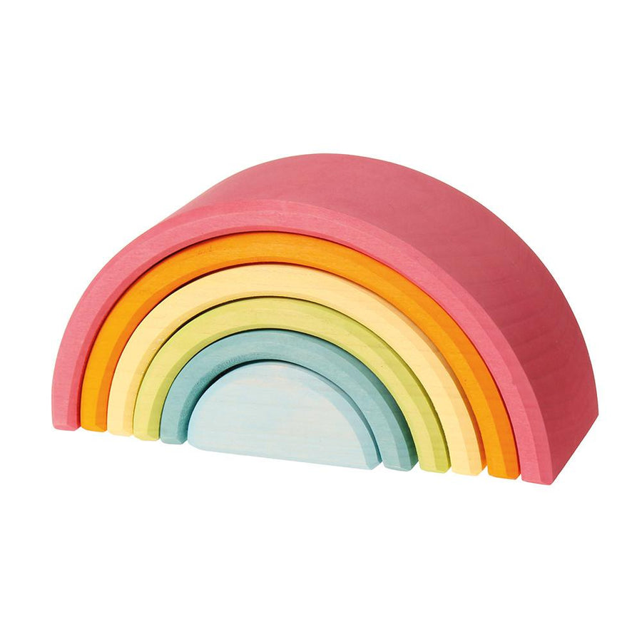 Grimm's Spiel & Holz | Six-Piece Pastel Rainbow | Oompa Toys