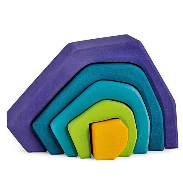 Grimms Caves Wooden Nesting Blocks - Earth