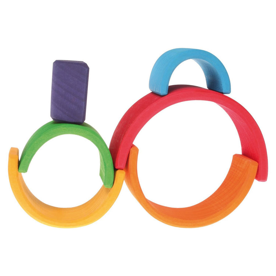 Grimm's Wooden Rainbow Tunnel - 6 Piece