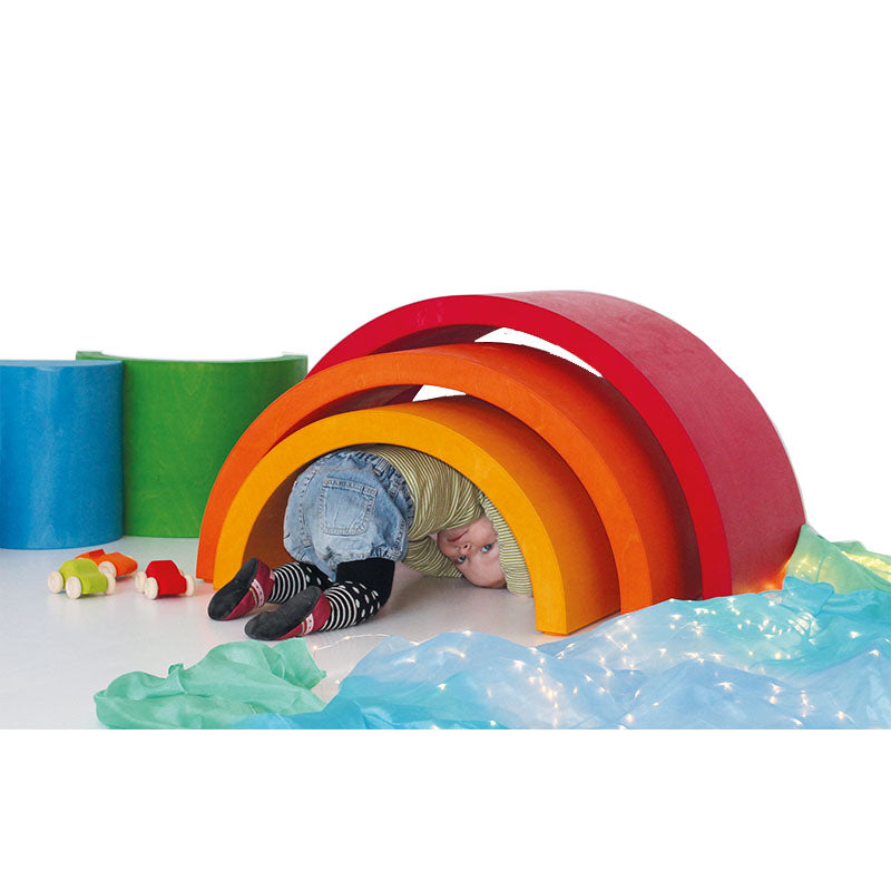 Grimm's Giant Wooden Rainbow Tunnel - XXL - Furniture - Oompa Toys