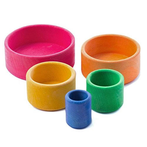 Rainbow Nesting Bowls - Red