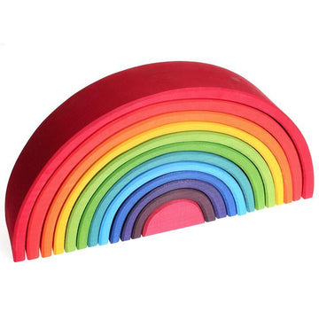 Wooden Rainbow Tunnel - 12 Piece