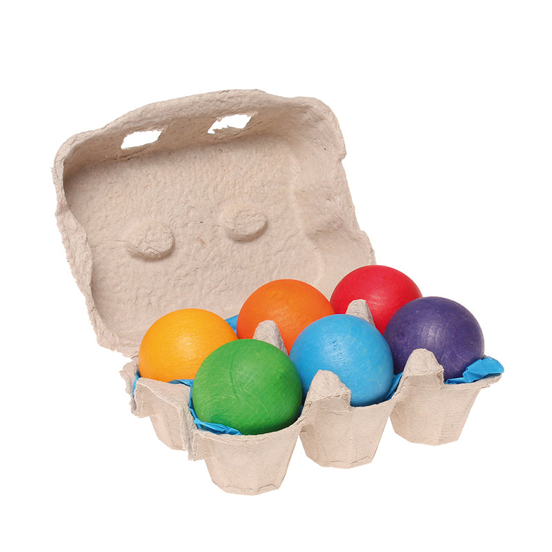 Grimm's Colored Wooden Balls | Bella Luna Toys