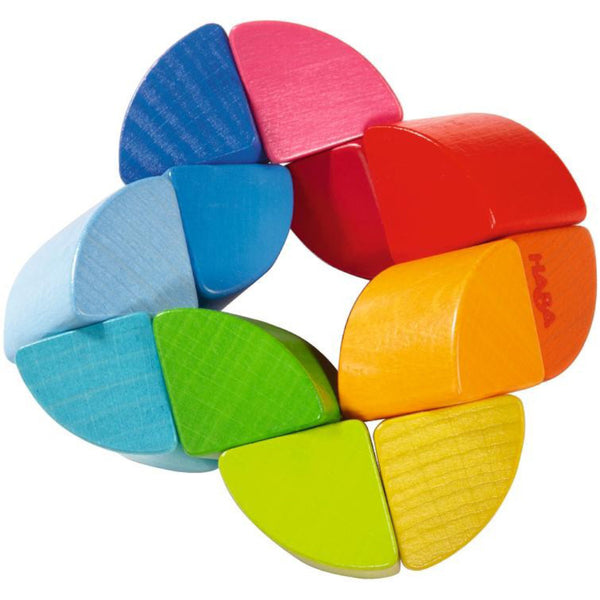 Rainbow Ring Wooden Clutching Toy - HABA