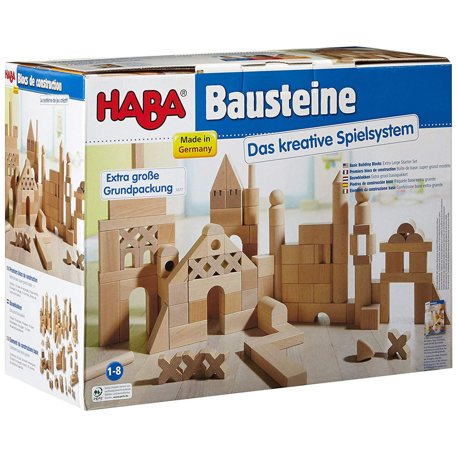 Haba Basic Building Blocks Extra Large Set | Wooden Toys | Wooden Blocks | Oompa