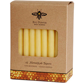 Beeswax Hanukkah Candles - Natural