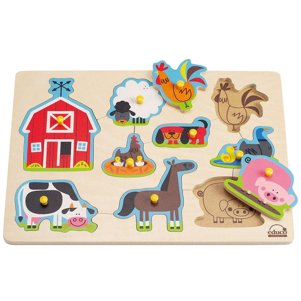 Farm Animals Peg Puzzle