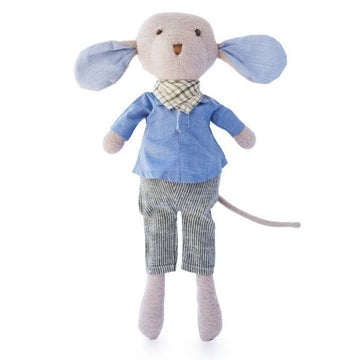 Hazel Village - Oliver Mouse - Engineer - Organic Stuffed Animal - Oompa Toys