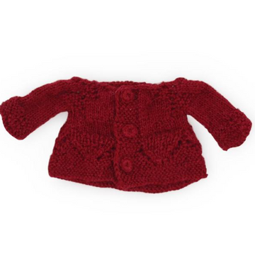Hazel Village Cranberry Hand-Knit Dolls Sweater
