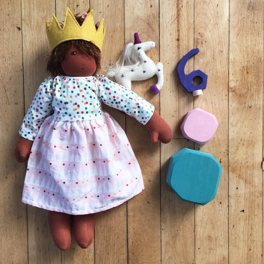 Nanchen Gold Felt Doll Crown Life | Oompa Toys