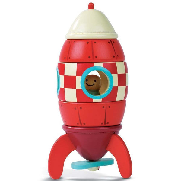 Janod Wooden Rocket - Magnetic Puzzle