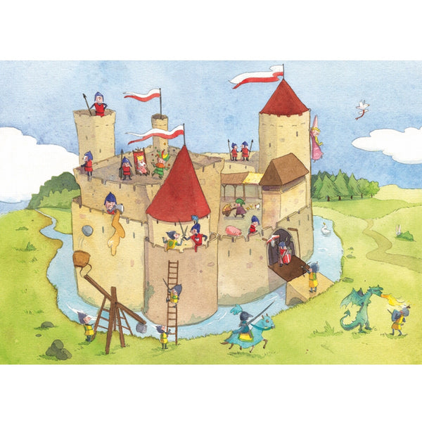 Castle Siege - Wooden Jigsaw Puzzle (24 Pc)