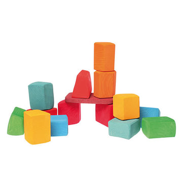 Large Colored Wooden Waldorf Blocks