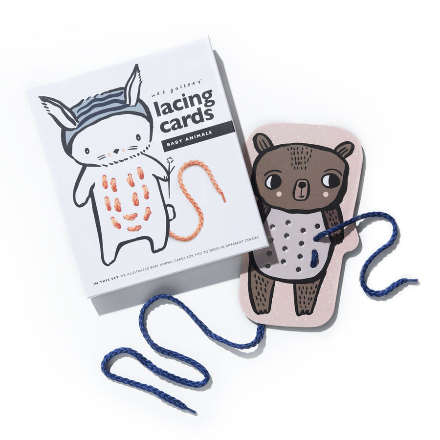 Wee Gallery - Baby Animal Lacing Cards | Oompa Toys