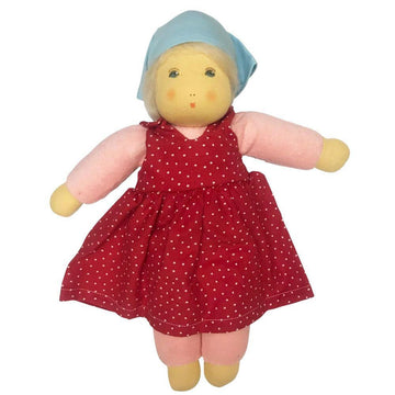 Nanchen Organic Girl Doll - Lotti - Red | Oompa Toys