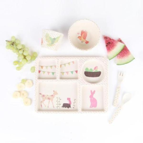 Love Mae Bamboo Dinnerware - Woodland Tea Party - Oompa Toys