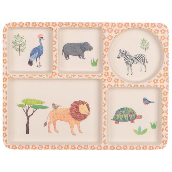 Love Mae Bamboo 5 Section Plate - Baby & Kids - On Safari