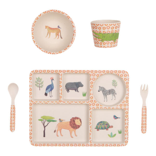 Love Mae Bamboo Dinnerware Set - Baby & Kids - On Safari