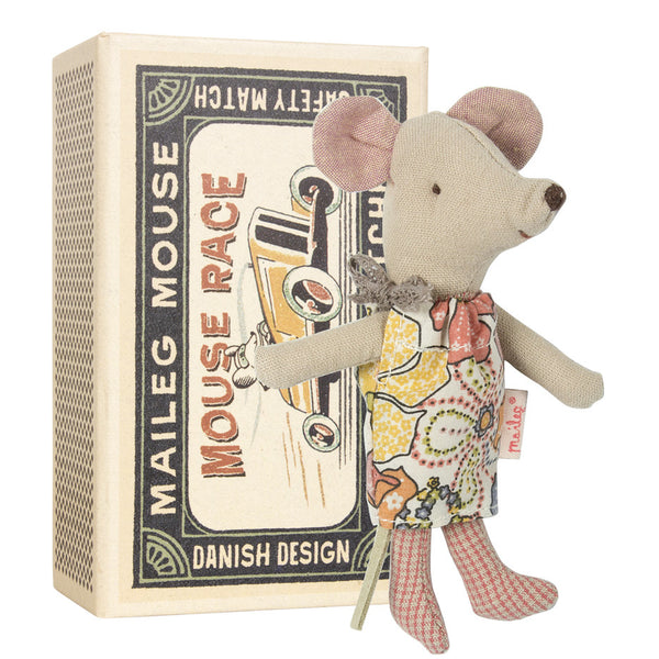 Maileg Little Sister Mouse in Match Box