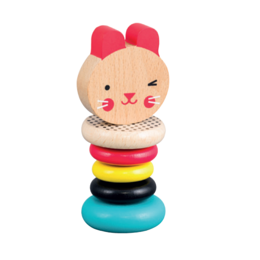 Modern Rabbit Wooden Rattle - Petit Collage - Oompa Toys