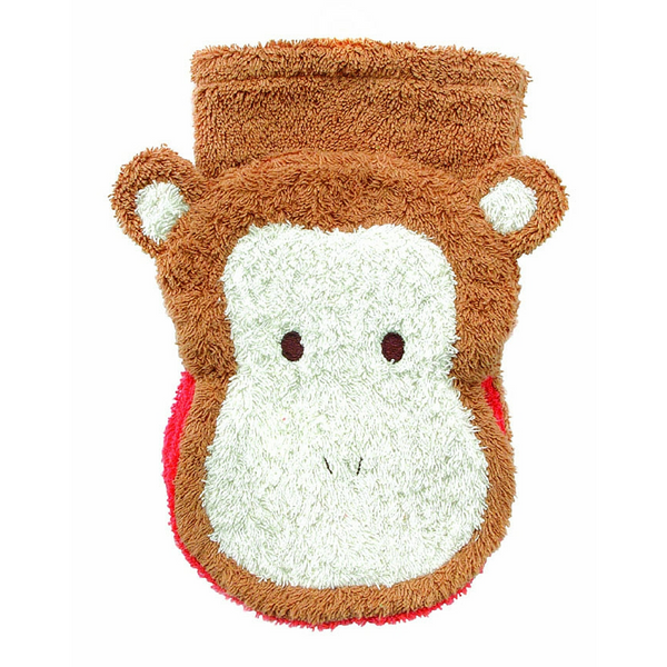 Washcloth Hand Puppet - Monkey