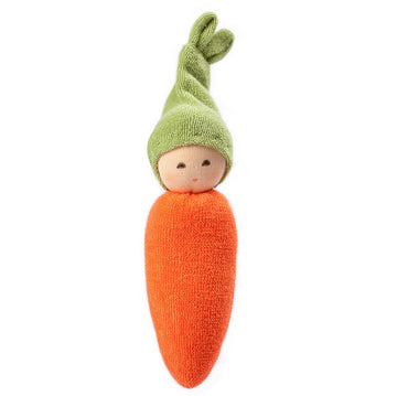 Nankeen Organic Baby Rattle Doll - Carrot | Oompa Toys