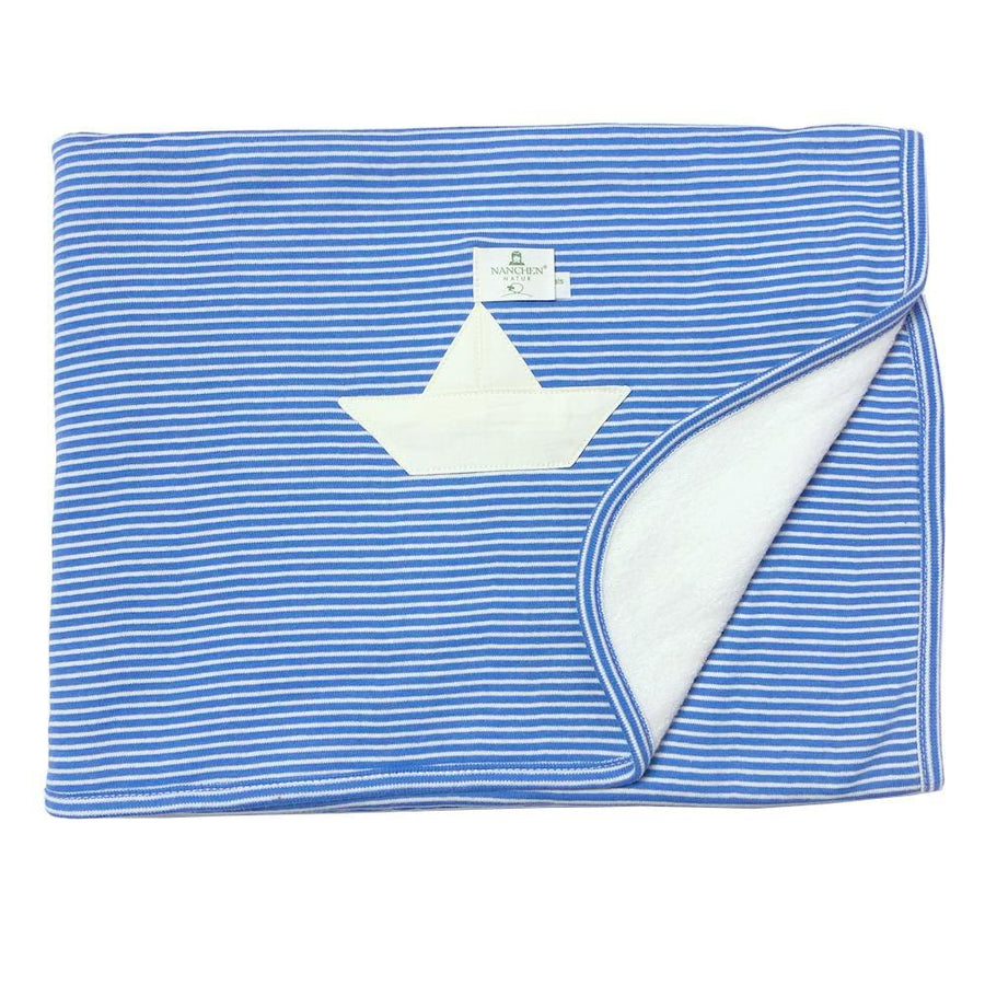Organic Baby Blanket - Sailboat Stripes