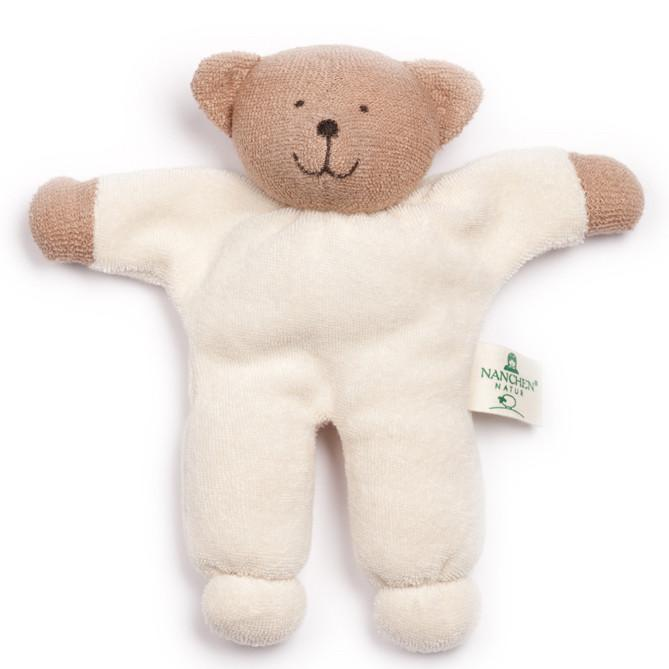 Nanchen Baby Bear Organic Rattling Soft Toy | Oompa Toys